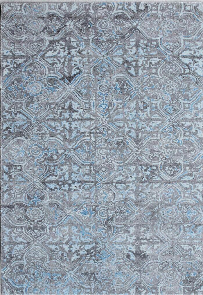 Correa Hand-Woven Gray/Blue Area Rug