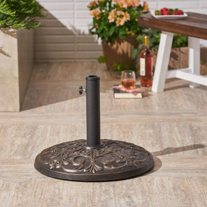 Patio Umbrella Stands Bases Murdock Outdoor Concrete Free Standing