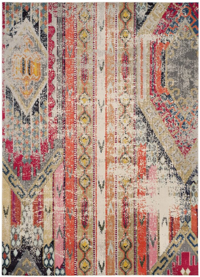 Area Rugs Alfred Abstract Grey Orange Pink Area Rug February 2019