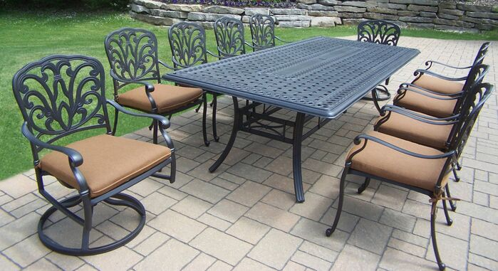 Patio Dining Sets Bosch 11 Piece Dining Set With Cushions March 2019