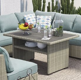 Dyess Wicker Dining Table
