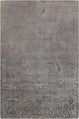 Holt Grey Abstract Area Rug Rug Size: 5' x 7'6