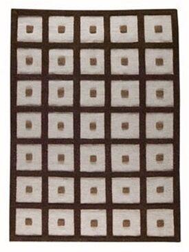 Brown Frame Area Rug Rug Size: 4'6