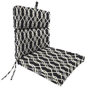 Indoor/Outdoor Dining Chair Cushion Fabric: Hedda Tuxedo