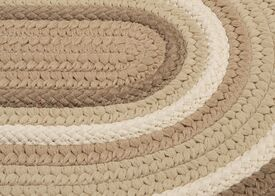 Brooklyn Hand Braided Natural Indoor/Outdoor Area Rug Rug Size: Round 6'