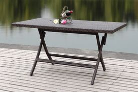 Copher Folding Picnic Table Finish: Brown