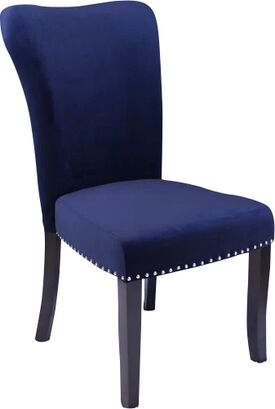 Kaat Velvet Dining Side Chair Upholstery Color: Ink Navy