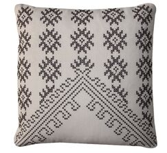 Bright and Fresh Fez Cotton Throw Pillow Color: Cream