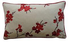 China Cotton Lumbar Pillow Color: Red
