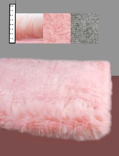 Benes Faux Flokati Pink Area Rug Rug Size: Round 6'