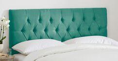 Tufted Regal Upholstered Panel Headboard Size: King, Color: Laguna