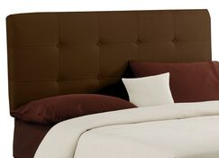 Double Button Tufted Upholstered Panel Headboard Size: King, Color: Chocolate
