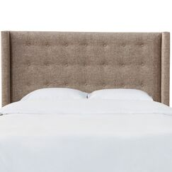 Moira Button Tufted California King Upholstered Wingback Headboard Size: Queen
