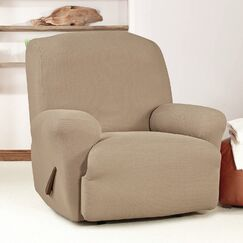 T-Cushion Recliner Slipcover Upholstery: Taupe