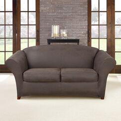 Ultimate Stretch Box Cushion Loveseat Slipcover Upholstery: Weathered Saddle