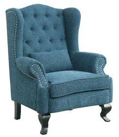 Mareena Wingback Chair Upholstery: Dark Teal