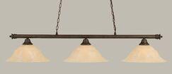 Mendez 3-Light Billiard Light Shade Color: Amber, Size: 12