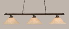 Mendez 3-Light Billiard Light Finish: Bronze, Size: 11.25