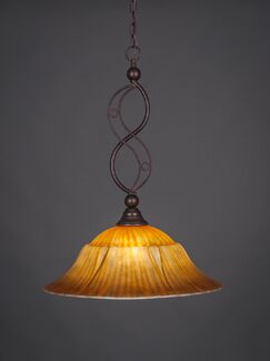 Thomason 1-Light Bowl Pendant Finish: Bronze, Size: 20