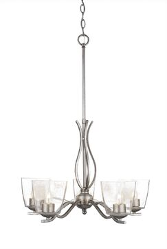 Hiroko 5-Light Candle-Style Chandelier Finish: Aged Silver
