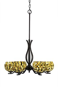 Hiroko 6-Light Shaded Chandelier Finish: Dark Granite