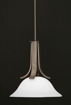 Weatherly 1-Light Pendant With Hang Straight Swivel