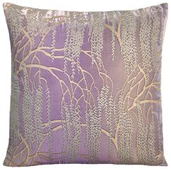 Willow Throw Pillow Color: Iris, Size: 22'' H x 22'' W x 3'' D