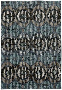 Metropolitan Apollo Blue/Black Area Rug Rug Size: Rectangle 8' x 11'