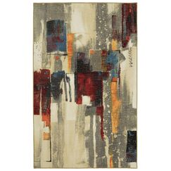 Carmouche Beige/Gray/Brown Area Rug Rug Size: Rectangle 5' x 7'