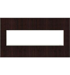 adorne 4-Gang Wall Plate (Set of 4) Finish: Wenge Wood