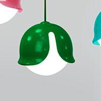 Snowdrop 1-Light Globe Pendant Color: Green