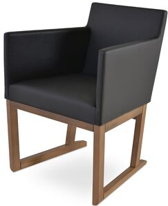 Beverly Sled Arm Chair Upholstery Type / Color: Wool - Silver