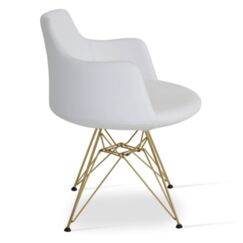 Dervish Tower Chair Frame Color: White, Upholstery Color: Silver