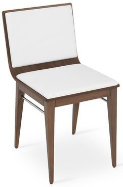 Corona Upholstered Dining Chair Upholstery Color: White/Walnut