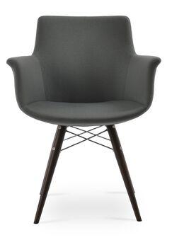 Bottega MW Leg Color: Stainless Steel, Upholstery Color: White