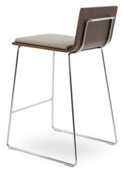 Corona Bar Wire Stools Upholstery: Dark Gray, Color: Natural