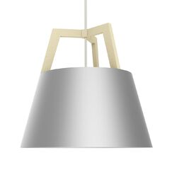 Imber 1-Light LED Cone Pendant Finish: Maple/Brushed Aluminum, Size: 17