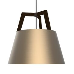 Imber 1-Light Cone Pendant Finish: Oiled Walnut/Distressed Brass
