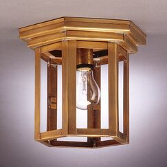Williams Socket Hexagon Flush Mount Finish: Antique Copper, Shade Color: Clear