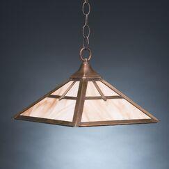 1-Light Dome Pendant Finish: Dark Antique Brass, Glass Color: Clear