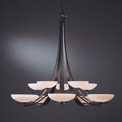 Aegis 10-Light Shaded Chandelier Finish: Dark Smoke, Shade Color: Pearl
