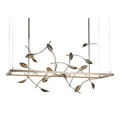 4 Seasons Autumn  LED  Pendant Size: Large, Finish: Natural Iron