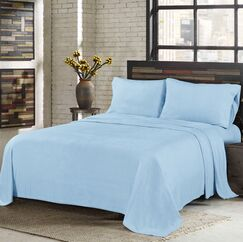 Sunbeam Super Soft Heavy Weight Fleece Microfiber Sheet Set Size: King