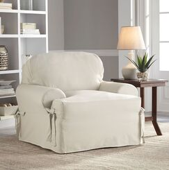 Relaxed Fit Duck Furniture T-Cushion 3 Piece Slipcover Set Upholstery: Natural