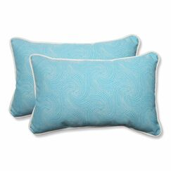 Vanderford Outdoor Lumbar Pillow Color: Caribbean, Size: 11.5