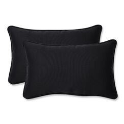 Claiborne Corded Indoor/Outdoor Lumbar Pillow Color: Black, Size: 5