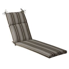 Striped Indoor/Outdoor Chaise Lounge Cushion