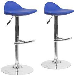 Nyberg Adjustable Height Swivel Bar Stool Upholstery: Blue