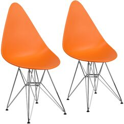 Resto Guest Chair Seat Color: Orange