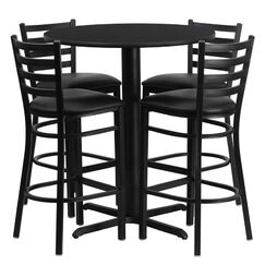 Minghui 5 Piece Dining Table Set Finish: Black